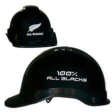 All Blacks NRL Light Weight Vented Safety Hard Hat Work Man Cave Gift *BLACK*