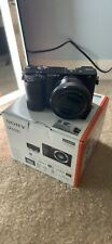 new sony a6000 camera with lens
