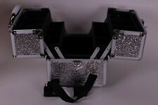 New Pottery Barn PB Teen Shine Bright Silver Glitter Beauty Case makeup travel
