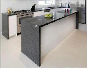Designer Steel grey granite  kitchen work tops upstands sills nationwide