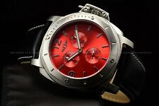 "Invicta Men's 45mm ""I by Invica"" Ferrari Red Dial Leather strap Quartz Watch"