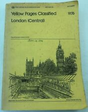 1976 London (Central) Yellow Pages Classified.  Telephone Directory. Phone Book