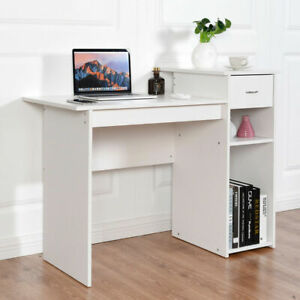 Costway Computer Desk Pc Laptop Table W/ Drawer And Shelf Home Office Furniture