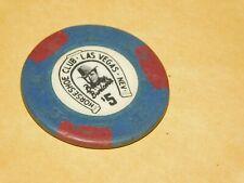 VINTAGE 1950S LAS VEGAS HORSESHOE CLUB 5 DOLLAR CASINO CHIP