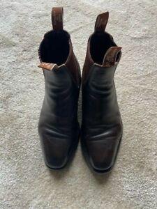 R M Williams Chelsea Boots, Stiefel, Gr. 8G, dunkelbraun