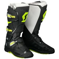 STIVALI BOOTS MOTO CROSS ENDURO SCOTT MX 550 NERO GIALLO FLUO BLACK YELLOW TG 46