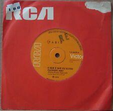 """FABIO 1970 """"O Que E Que Eu Estou Fazendo Aqui"""" Psych Funk Soul 7"""" BRAZIL 45 HEAR"""