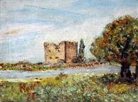 Kolossi Castle, Painting – Cyprus – Oil on Plywood. (Pa-006)
