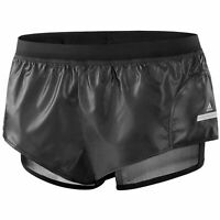 Adidas x Stella McCartney Womens Shorts Training Sports Leather Black F82888
