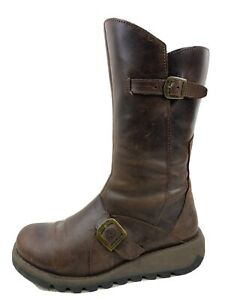 LADIES FLY LONDON MID CALF BOOTS SIZE 39 UK 6