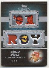 "2007 Topps Sterling Albert Pujols 5x patch #1/1 -- CARDINALS ""01 ROY"" True 1of1"