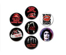 7 x Rocky Horror Picture Show buttons (badges, pins, 25mm, tees, blu ray)