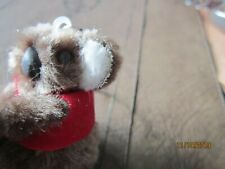 "Australia Fuzzy 2"" Koala Bear I love Aus clip on hands Key Chain Collectable Red"