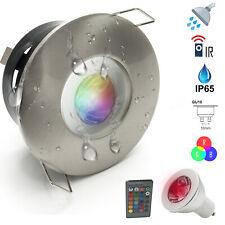 Faretto led luce colorata doccia 3W bagno turco cromoterapia IP65 GU10 RGB 230V
