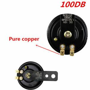 1PC Compact Motor Car ATV Loud 12V 100dB Metal Black & Red Air Horn Universal