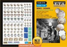 1/35 Scale WWII DISHES - Tablecloths & kitchen towels