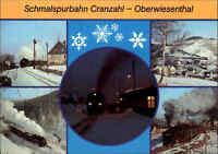 DDR EISENBAHN Strecke Cranzahl - Oberwiesenthal ua. Bahnhof Neudorf color AK