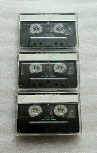 3 x FUJI JP-Is Type I Audio Cassette Tapes Used 1992