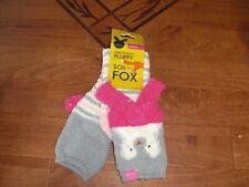 *BNWT* Joules Girls Fluffy Socks Lime Pink White Blue Stripe Soft Cosy Warm
