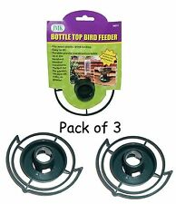 Easy to Make your Own - recycle empty Soda pop Bottle Top Bird Feeder (Green .