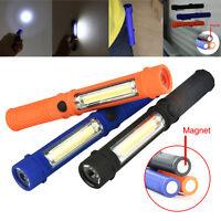 Multifunction Portable COB Lamp Camping Work Light Flashlight Torch W/Magnetic