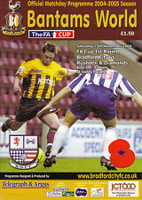 Bradford City v Rushden & Diamonds 2004/05 FA Cup 1st round