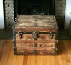 Flat Top Steamer Trunk Antique Vintage Flat Top Trunk Coffee Table Horse Tack
