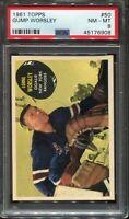 1961 Topps GUMP WORSLEY #50 PSA 8 (NM/MT) HOF New York Rangers HOCKEY CARD