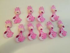 10 Baby Shower Pink Foam Baby Giraffes Party Decorations its a Girl Favors Prize