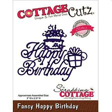 COTTAGE CUTZ FANCY HAPPY BIRTHDAY CUTTING DIE