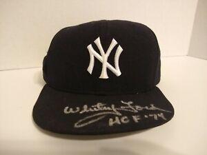 "Whitey Ford ""HOF '74"" Autographed Signed New Era Hat New York Yankees"