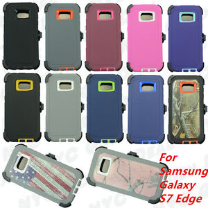 New For Samsung Galaxy ( S7 Edge ) Case w/(Belt Clip Fits Otterbox Defender)