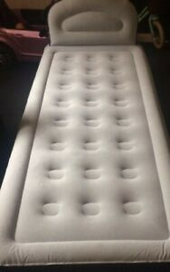 Yawn Air Bed single Self-Inflating Airbed with Built-in Pump, Headboard - used