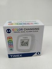 Timex Travel Dual Alarm Color Changing Travel Portable Compact Battery Powered