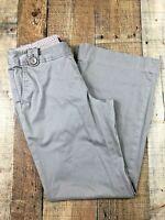 Banana Republic Martin Fit Flat Front Flare Women's Tan Pants Size 8 30x30