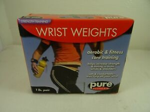 Pure Fitness Strength Training Wrist Weights 1 lb pair Aerobic NEW NIB