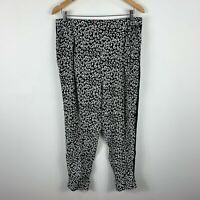 Marina Rinaldi Sport Max Mara Womens Pants Size Large Black White Elastic Waist