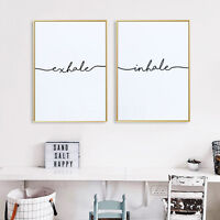 Nordic Abstract Minimalist Art Canvas Poster Home Wall Decoration Inhale Exhale