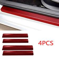4pcs Car Accessories 3D Carbon Fiber Car Door Sill Scuff Anti-Scratch Sticker