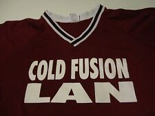 Vintage Baseball Team COLD FUSION Science Tech BEER League Jersey T Shirt Large