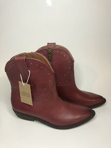 •NWT• Lucky Brand Ltd Edition •Chantel X Booties• Red Western •Size 7.5•
