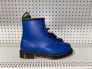 Dr. Martens 1460 Mens Leather Lace Up Boots Size US 10 EU 43 Pop Electric Blue