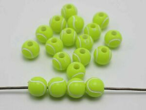 100pcs Acrylic Sparkling Various Style Sport Ball Round Beads 12mm Funny Beads