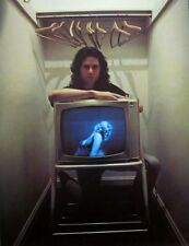 DOORS surreal clipping Jim Morrison color photo w/ sexy TV in closet 1960s