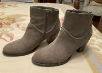 STEVE MADDEN Milaan Light Brown Suede Leather Zip Ankle Boots Ladies Size 7.5-8M