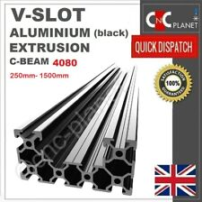 C-BEAM BLACK  V-SLOT 4080 ALUMINIUM EXTRUSION U PROFILE LINEAR GUIDE RAIL CNC