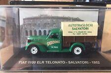 """DIE CAST """" FIAT 1100 ELR TELONATO - SALVATORI - 1952 """" VEICOLI PUBBLICITARI 1/43"""