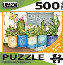 STICK TOGETHER - CACTUS - LANG ART - 500 PIECE JIGSAW PUZZLE - BRAND NEW 5039169