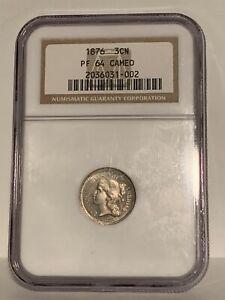 1876 3 Cent Nickel NGC PR64 CAMEO