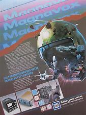 5/1987 PUB MAGNAVOX TRANSMISSIONS UHF RADIO JEEP A-10 F-18 HELMET FRENCH AD